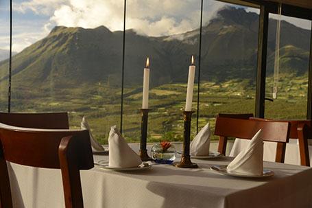 Otavalo Ecuador Dinning Vulcano View