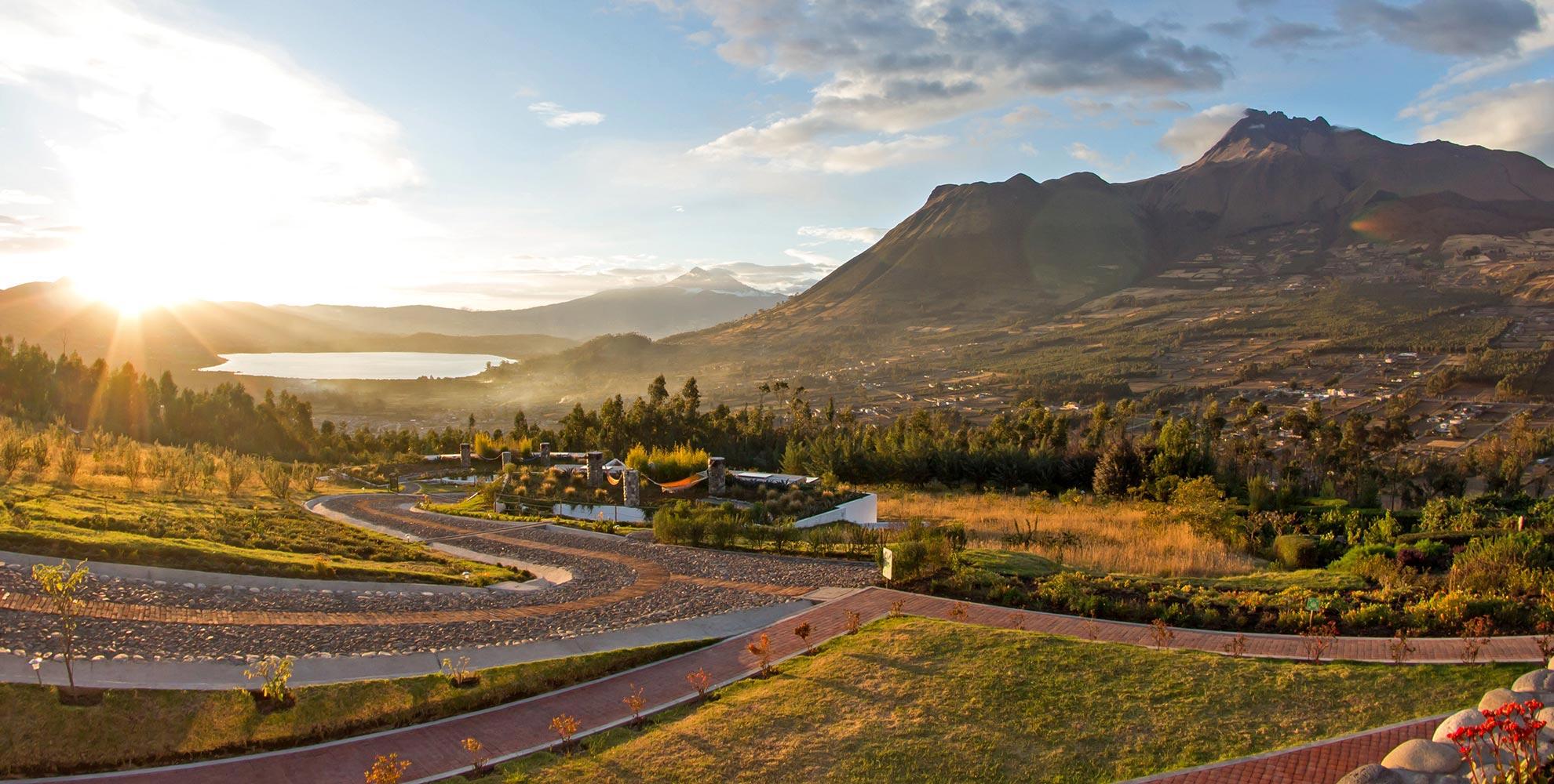 Volcano Lake hotel Ecuador